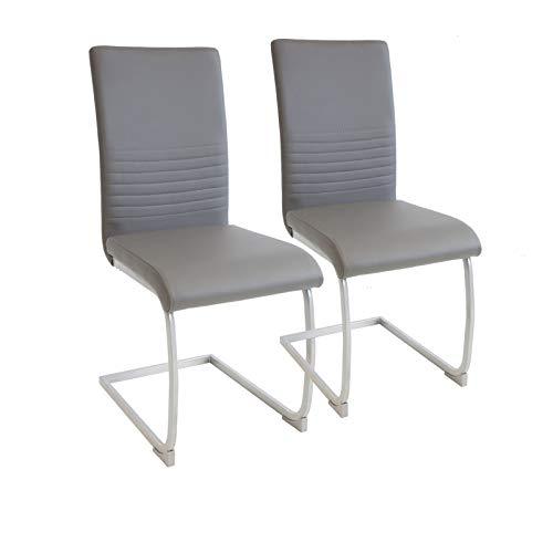 Albatros Silla Cantilever Murano Set de 2 sillas Gris, SGS Probado