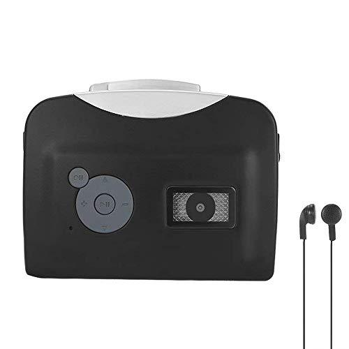Reproductor de Casete portátil con Auriculares y mp3, Convierte Cintas Walkman en Formato MP3 y almacena en un Disco Flash USB.