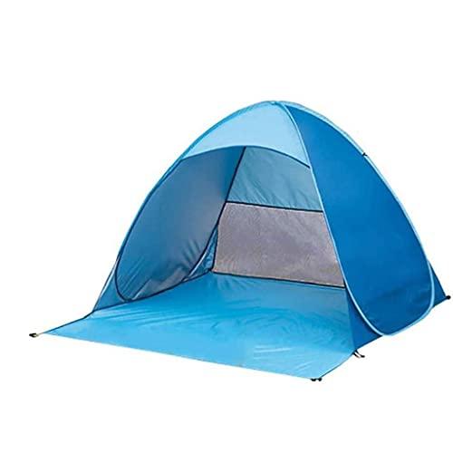Pop Up Beach Tent Vikbar direkt Tält för UV-skydd Family Camping Fiske Picnic Blue L