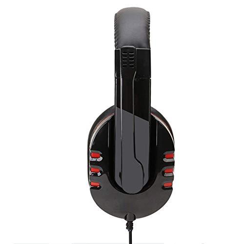 QNSQ Casque Casque USB pour Ordinateur, Microphone de Conception silencieuse, Boucle stéréo stéréo à 7.1 canaux, ergonomie avancée