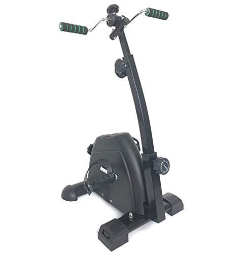 Übung Portable Black Pedal Exerciser - Handbuch, Arm und Bein Sport Stepper mit LCD-Display - einstellbare Fitness Rehabilitation Ausrüstung für Senioren, Senioren, PT - Folding Mini Stationary Bike