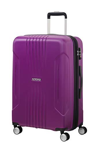 American Tourister Tracklite - Spinner Medium Expandable Bagaglio a Mano, M (67 cm - 82 L), Viola (Purple)
