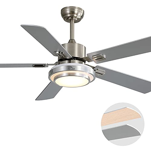 Sofucor Ceiling Fan with Lights LED Ceiling Fan AC Motor Modern Ceiling Fan with Remote Control...