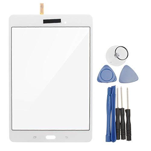Tableta Accesorios Pantalla Táctil Digitalizador Panel de Cristal +Herramientas para Tab A 8.0'' SM-T350 (Color: Blanco)