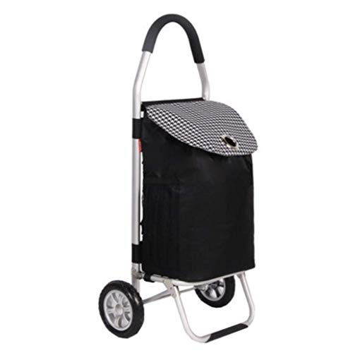 DZX Carro de la Compra Plegable 65L Carro portátil de aleación de Aluminio, Rosa