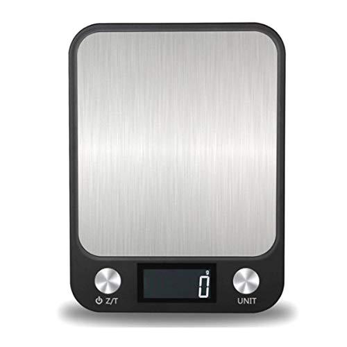 FREELX Báscula de Cocina Inteligente Digital con Función de Tara, Superficie de Acero Inoxidable Báscula de Cocina Multifunción Impermeable con Pantalla LCD de Precisión