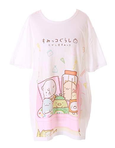 TP-181-11 Bento Box dieren snacks lief wit grafisch lang T-shirt Harajuku Kawaii