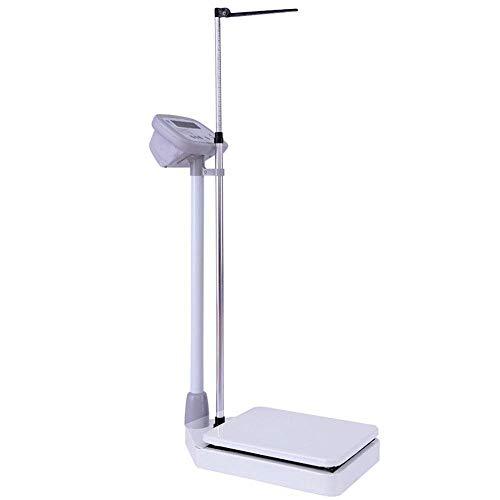 LBBGM Básculas electrónicas Digitales, básculas de Peso y Estatura, básculas de baño para médicos de 203 cm y 440 Libras