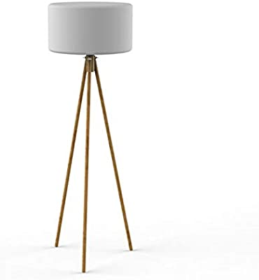 easy maxx Lámpara de pie, 5 W, Apariencia de madera, 22.5 x ...