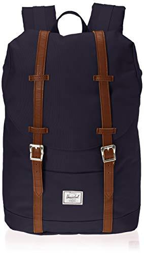 Herschel Unisex-Erwachsene Retreat Mid-volume Multipurpose Backpack, Kunstleder Pfauenfell/Hellbraun