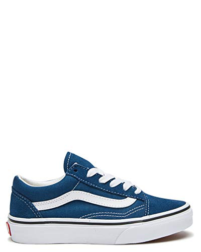 Vans Old Skool - Zapatillas de skate para niños, (Gibraltar Sea True...