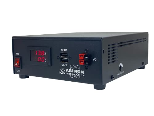 Astron SS-25M-AP (IEC 62368) Switching Power Supply 13.8 VDC, Adjustable 25 Amps Peak Current, Digital Meters. Buy it now for 250.00