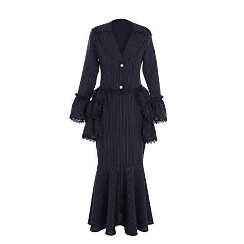 Fortunehouse Vestido de fiesta Marie Antonieta para mujer, vestido de noche, estilo barroco, medieval, Halloween, cosplay