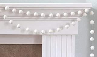 """White Felt Ball Garland- 1"""" (2.5 cm) Wool Felt Balls"""