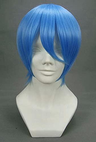 JapanAttitude Perruque Courte Bleue 32cm, Cosplay Eva Rei Ayanami