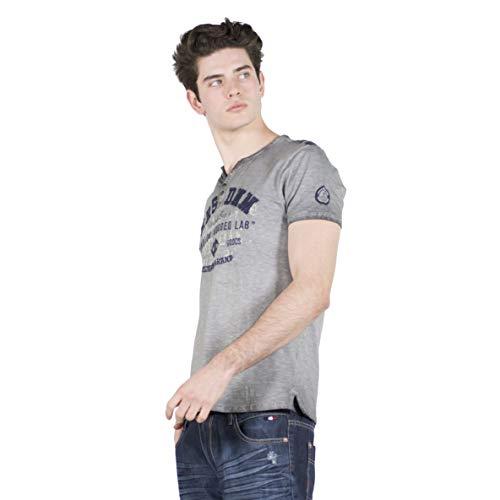 KOROSHI - Camiseta DE Algodon Bordado EN Relieve (XL)