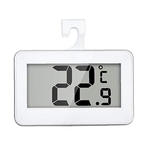 ZYCX123 Termómetro del refrigerador Digital Resistente al Agua de Temperatura inalámbrico Refrigerador Congelador a Partir -20 a 60 Grados Grande del LCD Display de Vacaciones de GFT