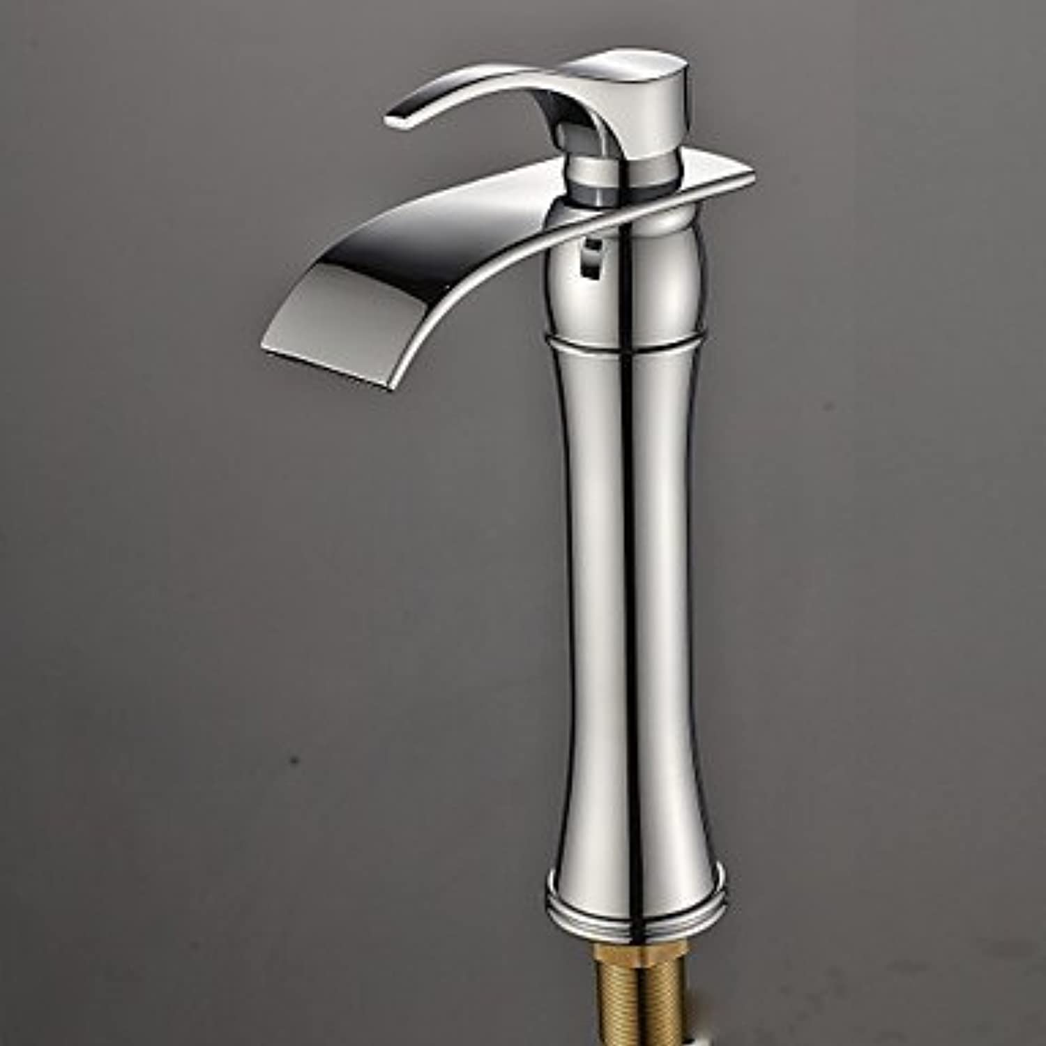 GDS Faucet£? Copper chrome contemporary waterfall single handle sink faucet