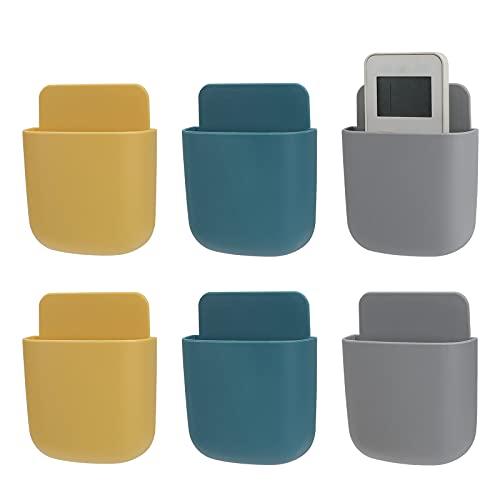 Caja de almacenamiento mini soporte para mando a distancia montaje en pared soporte de carga 6 piezas