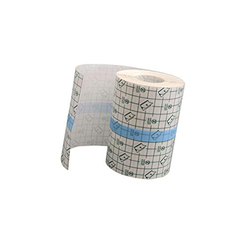 Exceart Wasserdicht Transparent Bandage PU Folie Tape 10cm X 10m Medizinisch Pflaster Stretch Wundkompressen Tattoo Verband