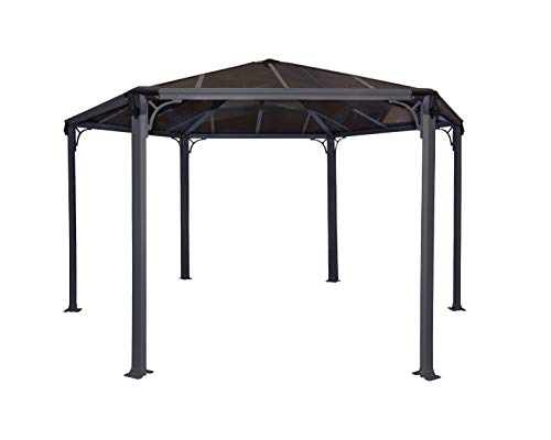 Palram Garden Gazebo for Robust Structure Year-Round Use, 450 x 390, 450x450x289.5 cm
