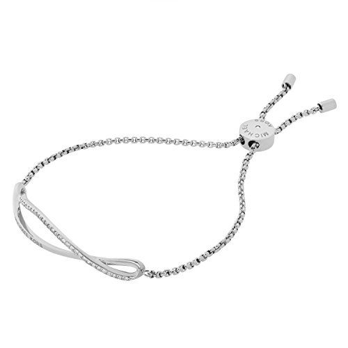 Michael Kors Pulsera de Mujer con Acero Inoxidable, circonita Redonda
