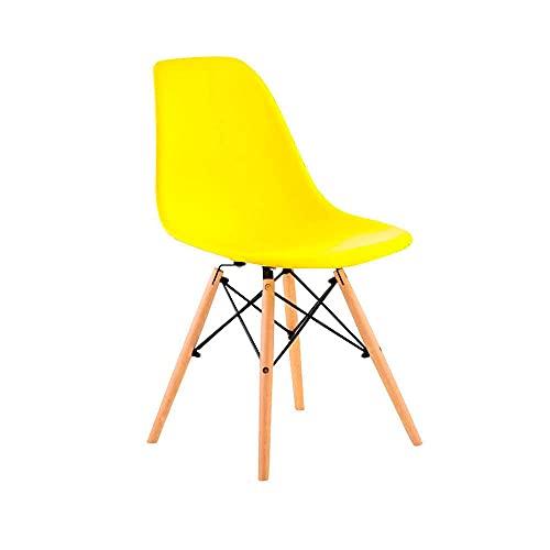Cadeira Eames Eiffel com Pés de Madeira Facthus