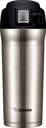 Zojirushi SM-YAE48XA Travel Mug, 16 oz, Stainless Steel