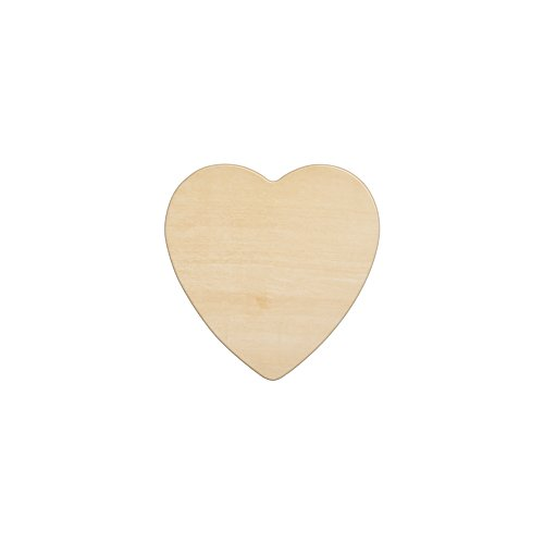 "Wooden Hearts 4-1/2 Inch, Unfinished Wooden Heart Cutout Shape, Wood Heart (4-1/2"" Tall x 1/8"" Thick) - Bag of 10"