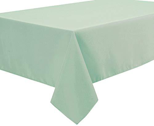 Home Direct Qualitäts Tischdecke Textil Eckig 140 x 200 cm, Salbeigrün
