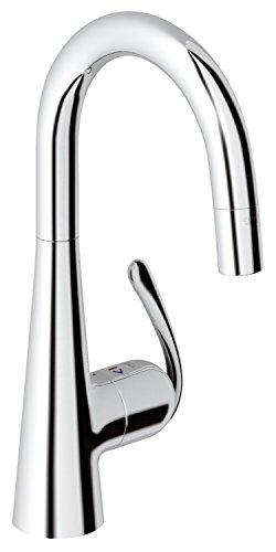 GROHE Zedra Küchenarmatur, herausziehbare Spülbrause 32296000