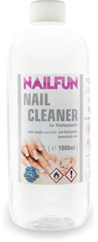 Nailcleaner 1000ml = 1 Liter Spezial Nagel-Reiniger (99,9{3093886c6603733fc9492eae9ca0f746558ecc86b3b2fa995c24b425ee47e902} Isopropanol) für die Nagelmodellage in Studioqualität zum reinigen und entfetten - Nail Cleaner 99.9 {3093886c6603733fc9492eae9ca0f746558ecc86b3b2fa995c24b425ee47e902} Isopropanol