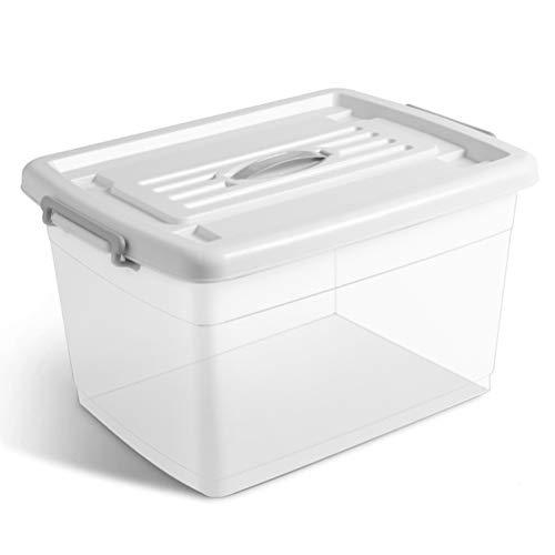 AQSG Boîte de Rangement, Rangement pour Organisateur, Transparent, Plastique, pour la Maison
