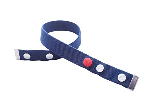Clip.Ho TWO - Der Gürtel ohne Schnalle mit Metallenden, Elastischer Gürtel marine Gr. 128 - 146