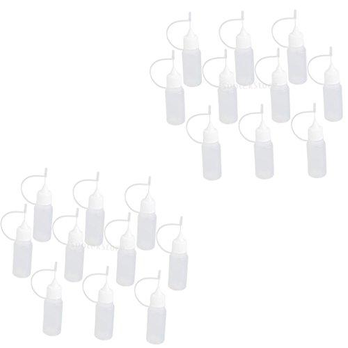 sharplace 20x Botellas de plástico, de botellas de plástico de HDPE con cierres de punta de aguja salpicaduras o tropfve rschlüssen, plástico, transparente, 10 ml