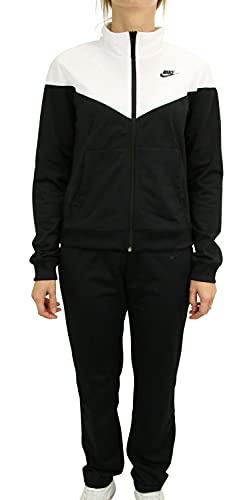 NIKE W NSW TRK Suit PK Chándal, Mujer, Black/White/Black, M