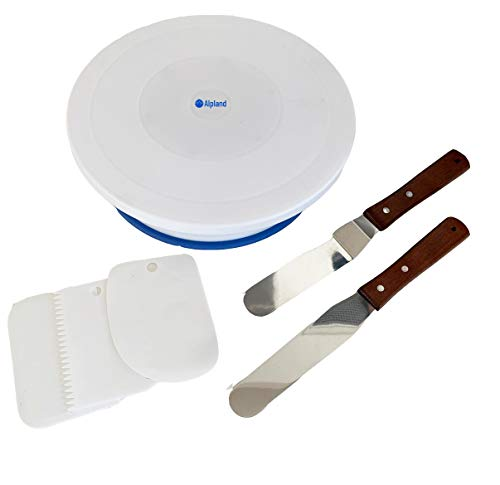 Cake Decorating Turntable Set Rotating Cake Stand with Icing Spatulas and Scraper Tools for Baking Birthday Cakes