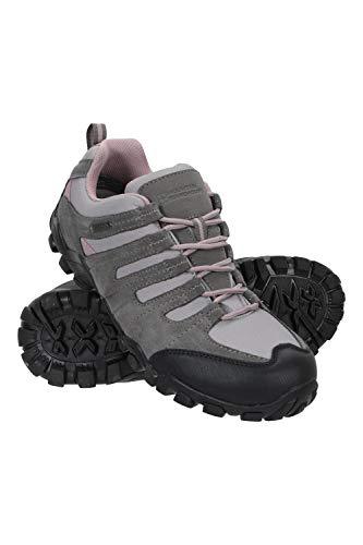 Mountain Warehouse Belfour Wanderschuhe für Damen - leichte Laufschuhe atmungsaktiv, Allwetterschuhe zum Schnüren - Für Trekking, Fitness und Jogging Hellgrau 40 EU