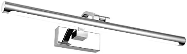 Wddwarmhome Led Edelstahl Spiegel Licht Spiegel Kabinett Lichter Badezimmer Wasserdicht Nebel Wand Lampe Bestrahlung Winkel Einstellbar Silber ( Farbe   Weies Licht-42cm 9W )