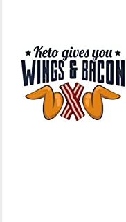 Keto Gives You Wings And Bacon: Funny Diet Keto Genic 2020 Planner | Weekly & Monthly Pocket Calendar | 6x9 Softcover Organizer | For High Fat Low Carb & Fasting Recipes Fans