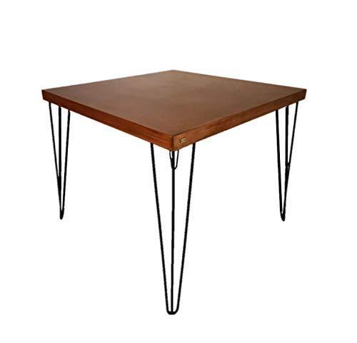 MESA COMEDOR Industrial, Moderna y Minimalista con cubierta de madera y patas de acero para 4 sillas