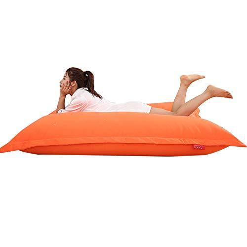 CHAIJY Adult Highback Sitzsack, Recliner Bazaar Gaming Große Bodenkissen Sitzsäcke, Wasserdichter Sitz Loungesessel, für Wohnzimmer Schlafzimmer Schlafsofas,orange