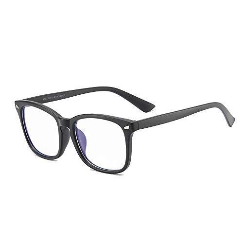 Sissiana Blaulichtfilter Brille Laptop Gaming Schutzbrille gegen Kopfschmerzen Anti Blaulicht PC-Spiele Bildschirm Augenschutz Blau Licht Blockieren Verringerung der Augenbelastung (Schwarz)