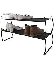 Umbra Imelda Stackable Shoe Rack, Black