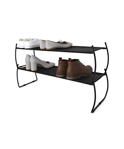 Umbra 318125-040 Imelda Stackable Shoe Rack, Black