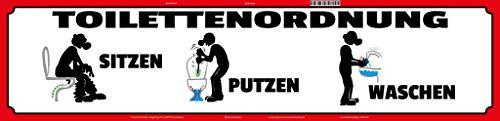 Decoratieve 7 Street Sign 46 x 10 cm toiletregelaar Zittend Schoonmaken Wassen