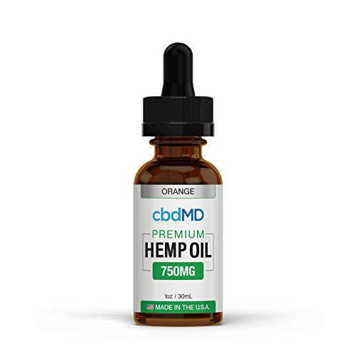 750mg 1oz/30mL Pure Organic Premium Hemp Oil Tincture Drops for Pain Relief Anxiety Sleep Mood Stress Support 100% USA Grown Hemp Extract (Orange)