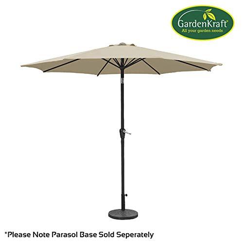 Sturdy Ribs 3m Diameter Relaxdays Garden Umbrella Polyester Tilt Function 38 mm Steel Mast