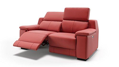 sofanella Designer Ledersofa Ledercouch Zweisitzer Polstergarnitur Sofa 2-Sitzer Couch