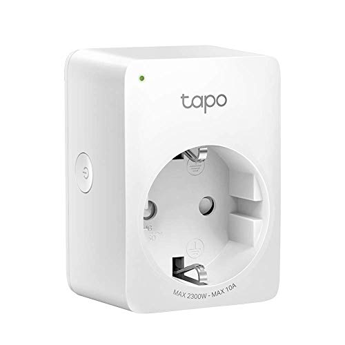 TP-Link Tapo P100 Smart Plug WiFi-stopcontact, Werkt met Amazon Alexa (Echo en Echo Dot), Google Home, Wireless Smart Socket, Afstandsbediening Timer Plug Switch, geen hub vereist, 1 verpakking